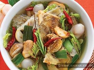 ต้มโคล้งปลาสลิดทอดกรอบ
